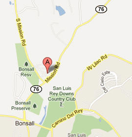 Bonsall Postal and Imaging, 5256 S. Mission Road, Suite 703, Bonsall, CA 92003 - location map and link to Google Maps.